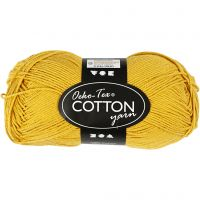 Hilo de algodón, medida 8/4, L. 170 m, curry, 50 gr/ 1 bola