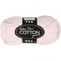 Hilo de algodón, medida 8/4, L. 170 m, rosado polvoriento, 50 gr/ 1 bola