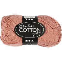 Hilo de algodón, medida 8/4, L. 170 m, rosa antiguo, 50 gr/ 1 bola