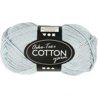 Hilo de algodón, medida 8/4, L. 170 m, azul palomo, 50 gr/ 1 bola