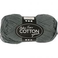 Hilo de algodón, medida 8/4, L. 170 m, gris, 50 gr/ 1 bola