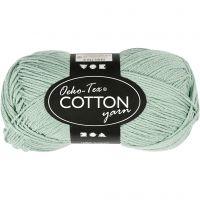 Hilo de algodón, medida 8/4, L. 170 m, verde menta, 50 gr/ 1 bola