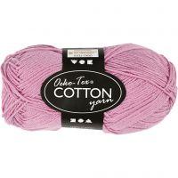 Hilo de algodón, medida 8/4, L. 170 m, rojo claro, 50 gr/ 1 bola