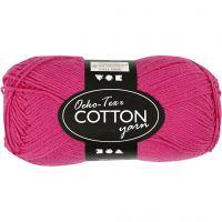 Hilo de algodón, medida 8/4, L. 170 m, rosa, 50 gr/ 1 bola