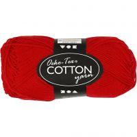 Hilo de algodón, medida 8/4, L. 170 m, rojo oscuro, 50 gr/ 1 bola