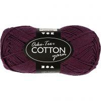 Hilo de algodón, medida 8/4, L. 170 m, ciruela, 50 gr/ 1 bola