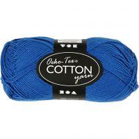 Hilo de algodón, medida 8/4, L. 170 m, azul cobalto, 50 gr/ 1 bola