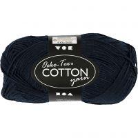 Hilo de algodón, medida 8/4, L. 170 m, azul oscuro, 50 gr/ 1 bola