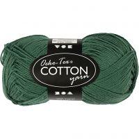 Hilo de algodón, medida 8/4, L. 170 m, verde oscuro, 50 gr/ 1 bola
