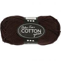 Hilo de algodón, medida 8/4, L. 170 m, marrón oscuro, 50 gr/ 1 bola