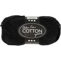 Hilo de algodón, medida 8/4, L. 170 m, negro, 50 gr/ 1 bola