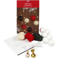 Bolas de Navidad, dia: 6 cm, 6 ud/ 1 paquete