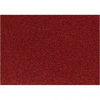 Foil para planchar, 148x210 mm, purpurina, rojo, 1 hoja