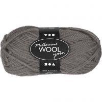 Melbourne lana, L. 92 m, gris, 50 gr/ 1 bola