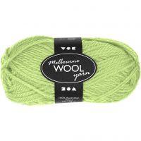 Melbourne lana, L. 92 m, verde neón, 50 gr/ 1 bola