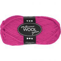 Melbourne lana, L. 92 m, rosa neón, 50 gr/ 1 bola