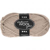 Melbourne lana, L. 92 m, beige, 50 gr/ 1 bola