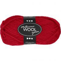 Melbourne lana, L. 92 m, rojo, 50 gr/ 1 bola