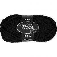 Melbourne lana, L. 92 m, negro, 50 gr/ 1 bola