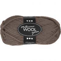 Melbourne lana, L. 92 m, gris marrón, 50 gr/ 1 bola