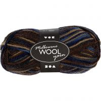 Melbourne lana, L. 92 m, marrón harmonía, 50 gr/ 1 bola