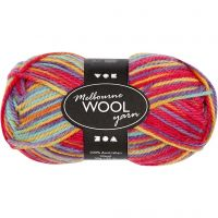 Melbourne lana, L. 92 m, multi colores, 50 gr/ 1 bola