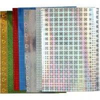 Papel holográfico, A4, 210x297 mm, 120 gr, 8 hojas stdas/ 1 paquete