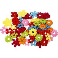 Flores de fieltro, medidas 35x45 mm, 135 ud/ 1 paquete