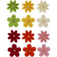 Flores de fieltro, dia: 30 mm, 120 ud/ 1 paquete