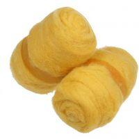 Lana cardada, amarillo, 2x100 gr/ 1 fajo
