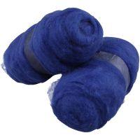 Lana cardada, azul royal, 2x100 gr/ 1 paquete