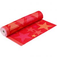 Fieltro con diseño, A: 45 cm, grosor 1,5 mm, 180-200 gr, naranja, rojo, 5 m/ 1 rollo
