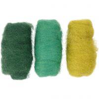 Lana cardada, verde/turco harmonía, 3x10 gr/ 1 paquete