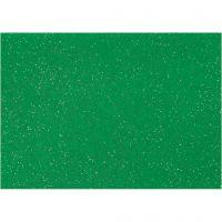 Fieltro para manualidades, A4, 210x297 mm, grosor 1 mm, verde, 10 hoja/ 1 paquete