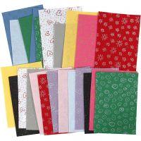 Fieltro para manualidades, 21x30 cm, grosor 1 mm, El contenido puede variar , surtido de colores, 24 hoja/ 1 paquete