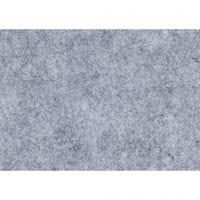 Fieltro para manualidades, A4, 210x297 mm, grosor 1,5-2 mm, Texturado, gris, 10 hoja/ 1 paquete
