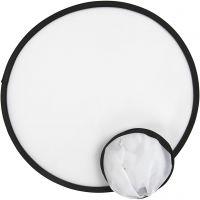 Frisbee, dia: 25 cm, blanco, 5 ud/ 1 paquete