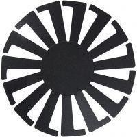 Plantilla para cesta tejida, A: 6 cm, dia: 8 cm, negro, 10 ud/ 1 paquete