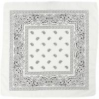 Bandana, medidas 55x55 cm, blanco, 1 ud