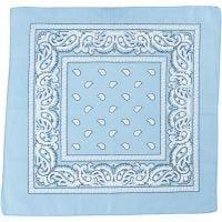 Bandana, medidas 55x55 cm, azul claro, 1 ud