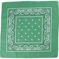 Bandana, medidas 55x55 cm, verde oscuro, 1 ud