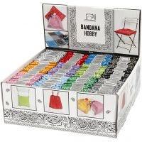 Bandana, surtido de colores, 144 ud/ 1 paquete