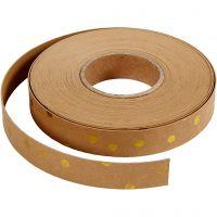 Tiras de tejido, A: 15 mm, grosor 0,55 mm, marrón claro, 9,5 m/ 1 rollo