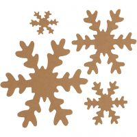 Copo de nieve, dia: 3+5+8+10 cm, 350 gr, natural, 16 ud/ 1 paquete