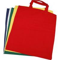 Bolsa de la compra, medidas 38x42 cm, 135 gr, surtido de colores, 5 ud/ 1 paquete
