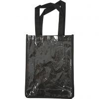 Bolsa con frente plástico, medidas 30x23x7 cm, negro, 1 ud