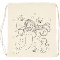 Mochila, Sirena, medidas 37x41 cm, 110 gr, color natural claro, 1 ud