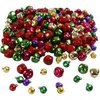 Cascabeles- surtido, dia: 10+14 mm, colores metálicos, 320 stdas/ 1 paquete