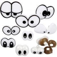 Ojos divertidos, medidas 2-3 cm, 200 stdas/ 1 paquete