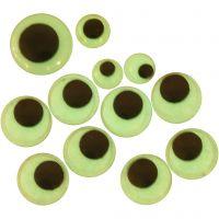 Ojos saltarines, sin adhesivo, dia: 8+10+14 mm, 30 stdas/ 1 paquete